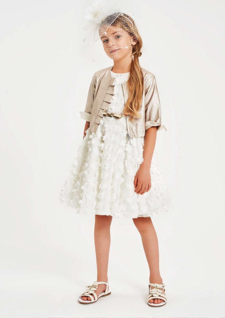 Abito bianco bambina - Baby Star Torino