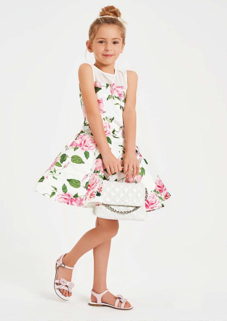 Vestito bianco a fiori bambina - Baby Star Torino