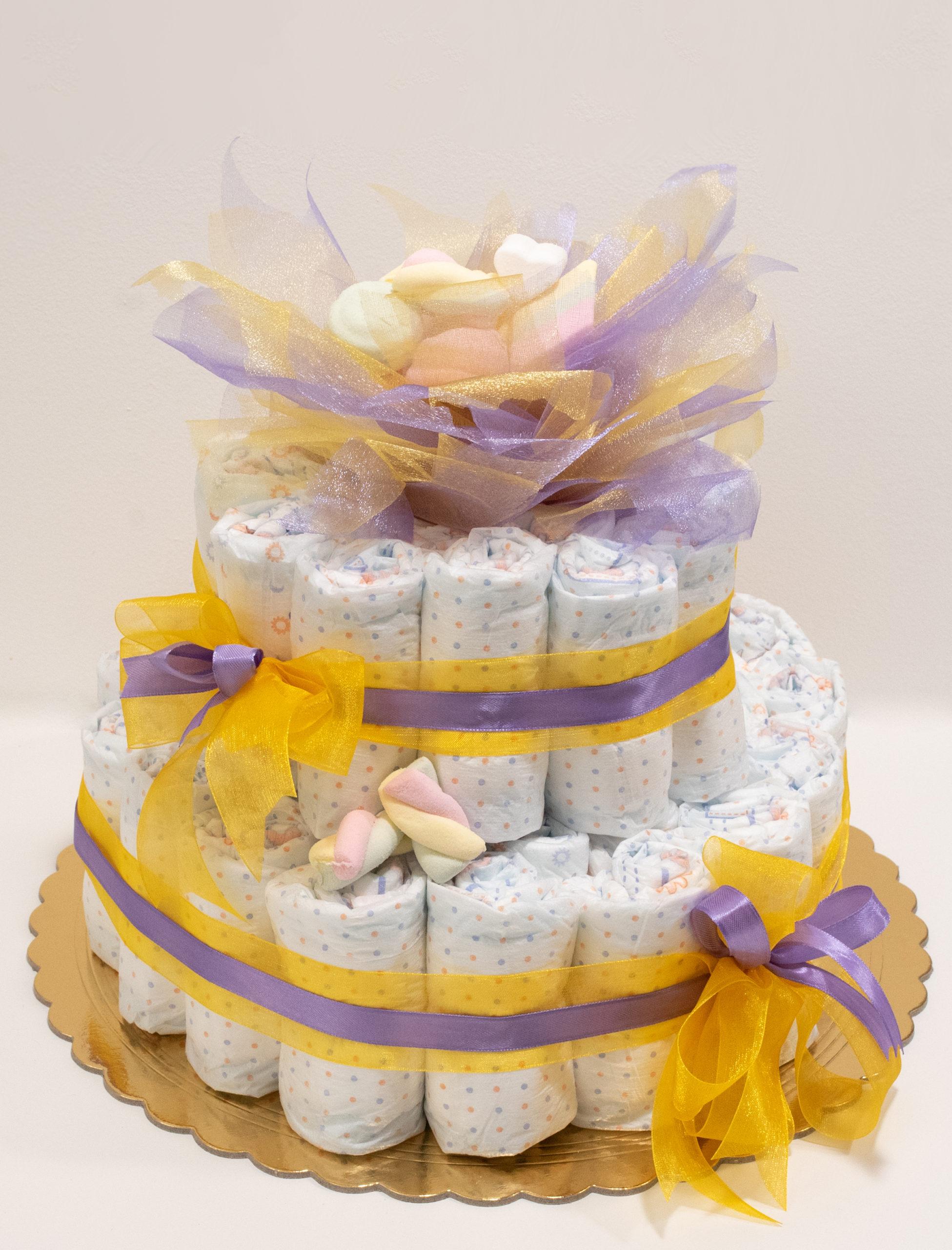 Torta di pannolini battesimo a Torino - Baby Star