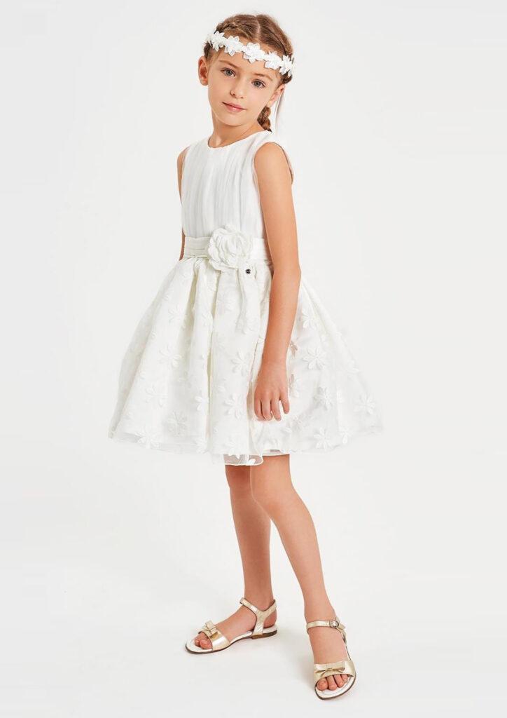 Vestito bianco comunione bambina
